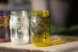 Jar Decorations by 5 Spaces To Decorate With Our Painted Jar Lanterns