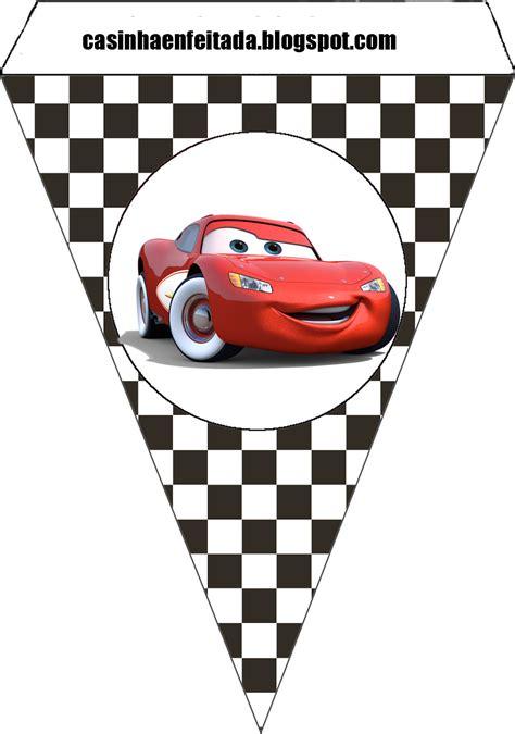 banderines de rayo mcqueen casinha de crian 231 a kit festa carros para imprimir gr 225 tis
