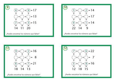 juegos matemticos y de juegos matematicos de sumas 3 orientaci 243 n and 250 jar recursos educativos