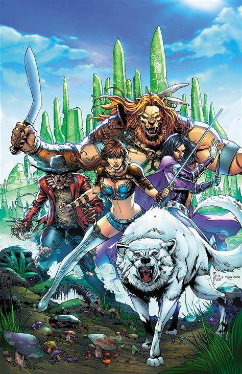 grimm fairy tales oz  wizard casas cover fresh comics