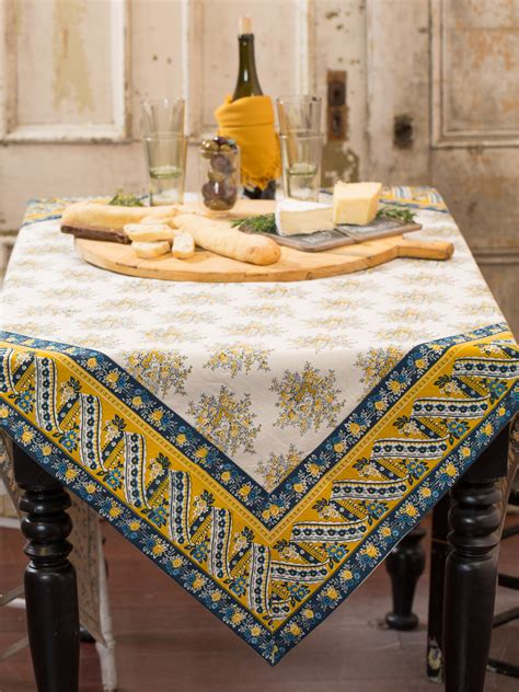 kitchen table cloths marseille tablecloth gold table linens kitchen