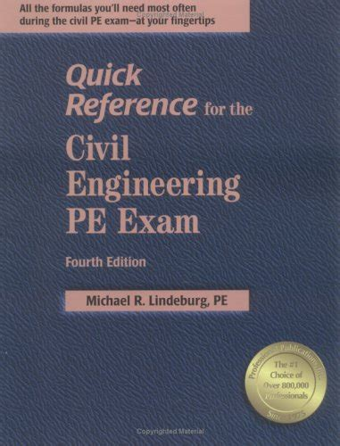 reference books for year engineering reference for the civil engineering pe 4th ed