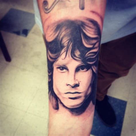 arm realistic jim morrison tattoo by adrenaline vancity