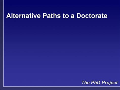 Alternative Degrees To Mba by The Phd Project Faqs