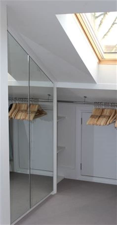 loft conversion walk in wardrobe inspiration on angled brackets used to maximize space in attic closet