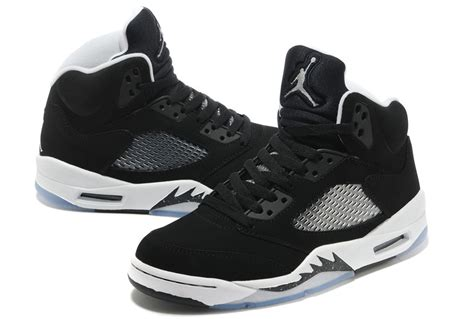 lowest price nike air 5 shoes s black white