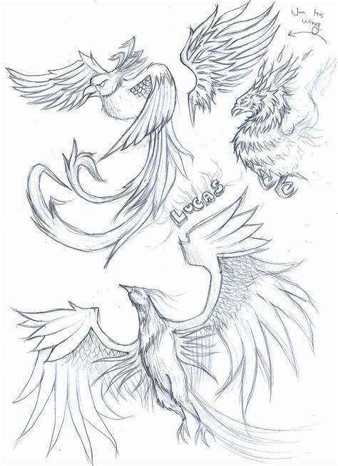 tattoo phoenix sketch phoenix tattoo sketch by elenoosh on deviantart