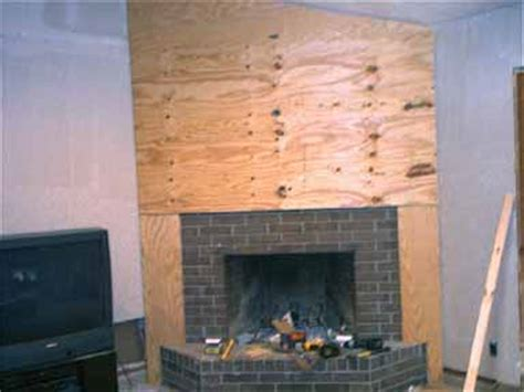dwnixon cover a brick fireplace with plywood