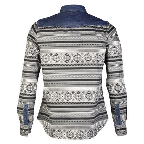 aztec pattern shirt mens rock revivial r605392c aztec pattern designer long