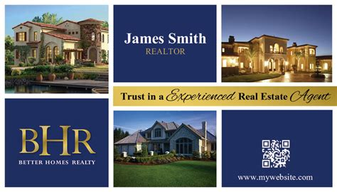 unique better homes realty business card ideas printing