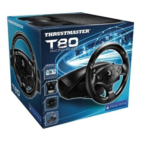 volant thrustmaster t80 rw officiel ps4 ps3 accessoires