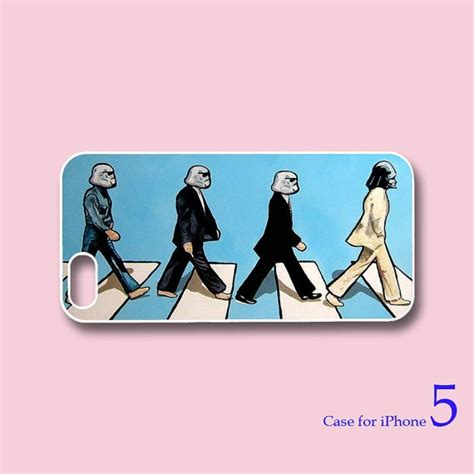 The Beatles Black White Iphone All Hp the beatles road wars iphone 5 iphone 4 in durable black or white