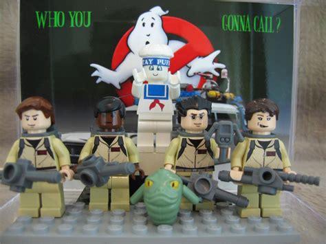 Lego Ghostbuster Minifigures Set Team The lego minifig ghostbusters set w slimer stay puft custom minifigure bonus ebay