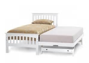 White Wooden Bed Frame Single Singapore Serene Amelia 3ft Single White Wooden Guest Bed Frame By