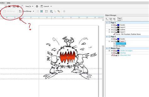 coreldraw x6 outline editing bitmaps through corel x8 coreldraw graphics
