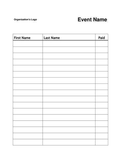Simple Sign In Sheet Template by Best Photos Of Simple Sign In Sheet Template Sign Up