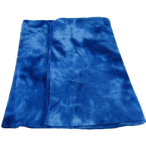 Blaue Decke by Royal Blue Tye Dye Fleece Throw Blanket Monogram Available