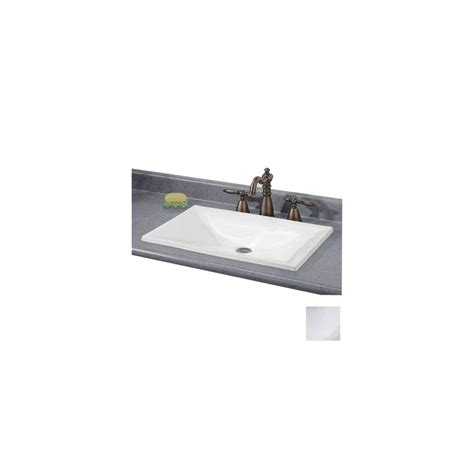 small rectangular drop in bathroom sinks shop cheviot estoril white drop in rectangular bathroom