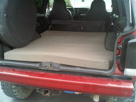 jeep bed in back sleeping in my jeep tonight suggestions jeep cherokee forum