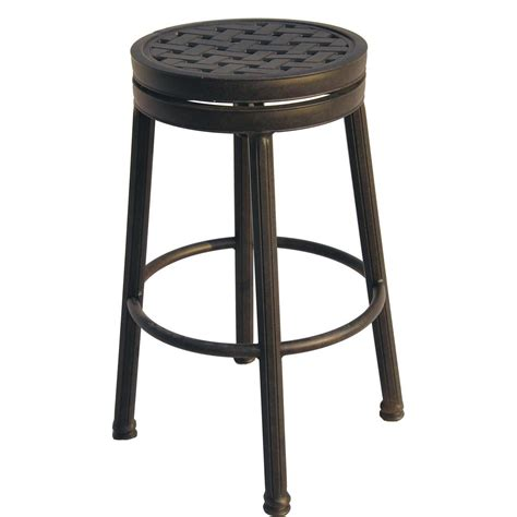 bar height bar stools swivel darlee classic cast aluminum round backless patio swivel