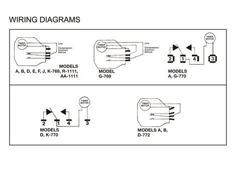 defrost timer wiring schematic domestic refrigerator