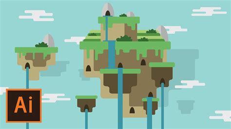flat landscape illustrator tutorial for beginners youtube illustrator tutorial floating island landscape 2