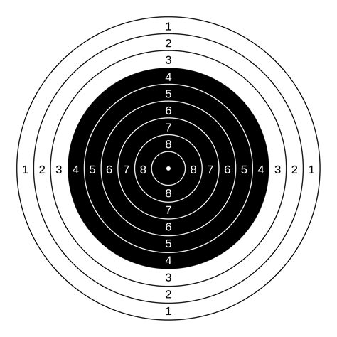 air pistol targets printable file 10 m air rifle target svg wikimedia commons