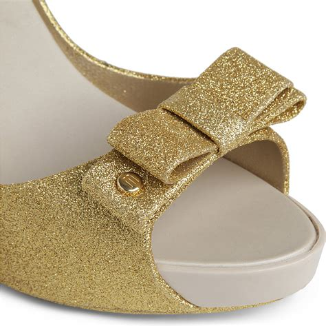 gold sparkly sandals sky glitter sandals in gold lyst