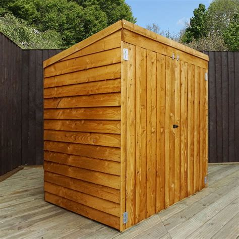 pent mower shed