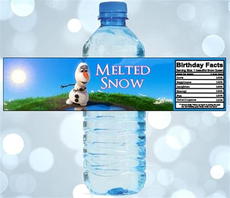 printable olaf water bottle labels olaf printable labels party invitations ideas