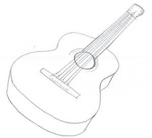 Acoustic Guitar Outline Drawing by How To Draw Acoustic Guitar