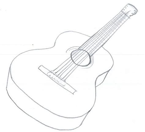 Acoustic Guitar Outline Drawing by 25 Trending Guitar Drawing Ideas On Guitar