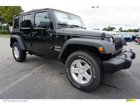Black 2016 Jeep Wrangler Unlimited Sport 4x4 Exterior