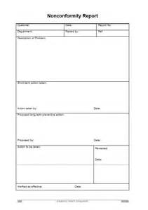 Ncr Report Template by Non Conformance Report Template