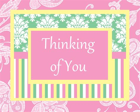printable card thinking of you delightful digitals