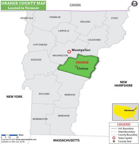 orange county usa map orange county map vermont