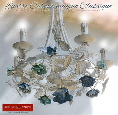 lustre en fer forg 233 calendimaggio classique blanc