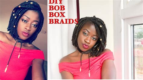 i cut my box braids and now the weave is comming loose how to bob box braids fastest way to cut a bob youtube