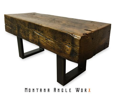 timber bench reclaimed montana bridge beam bench timber bench rustic
