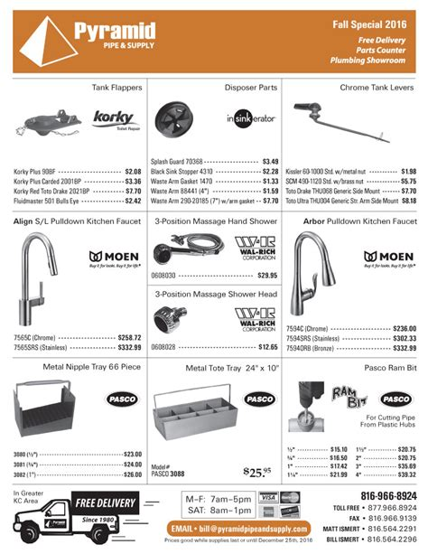 Pyramid Plumbing Supply by Pyramid Pipe Supply Plumbing Sales Flyer Fall 2016 Pg4