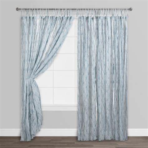 blue patterned voile blue kashvi crinkle sheer voile curtains set of 2 world