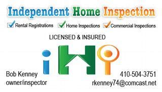 independent home inspection reisterstown md 21136 410