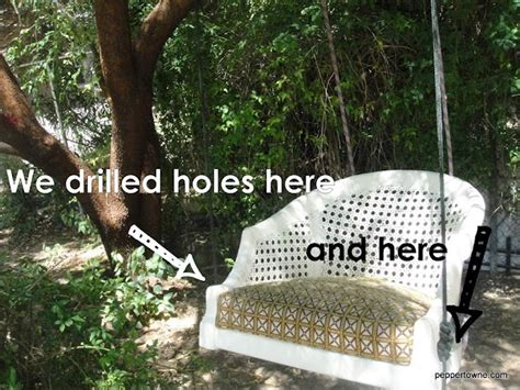 turn troline into swing how to turn a chair into an outdoor swing i bet this