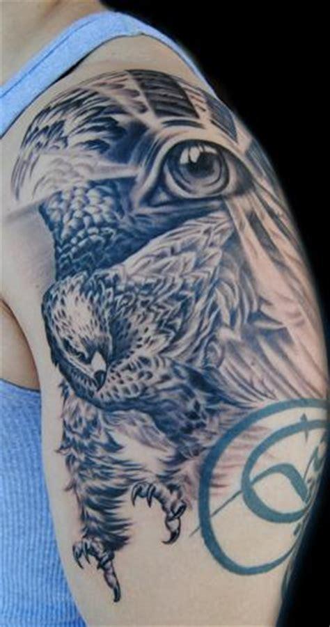 black and grey hawk tattoo megan jean black and grey hawk tattoo