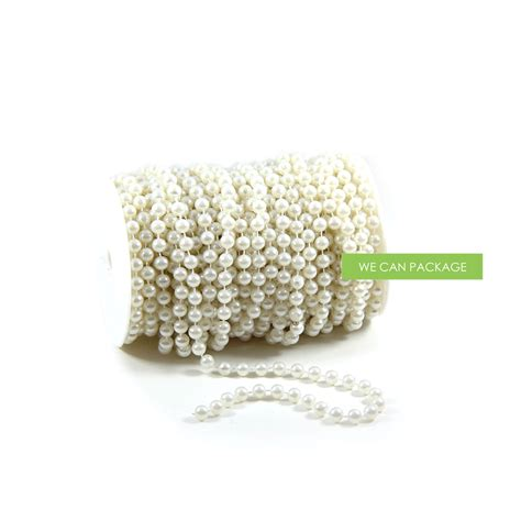 8 mm ivory pearl beaded garland we can package