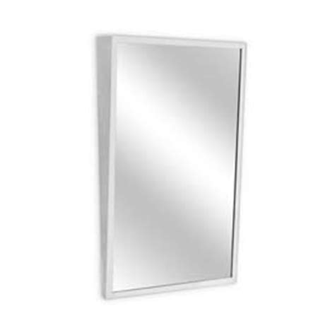 stainless steel angle frame mirror 24 quot x 36 quot modern bathroom supplies bathroom mirrors a j washroom angle