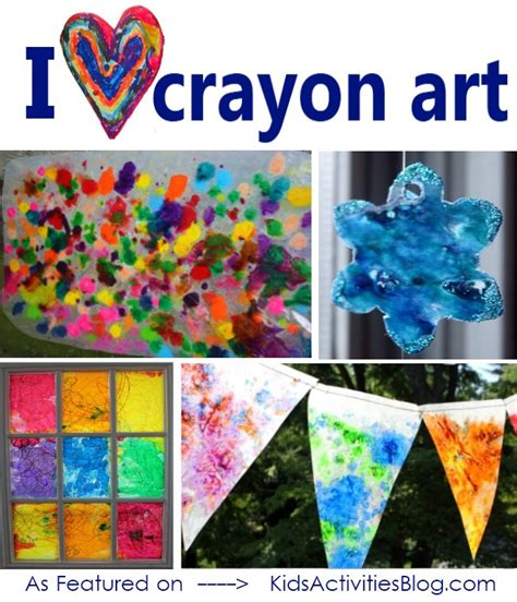 Wax Paper Crayon Craft - 20 kid friendly ideas for wax crayon and a 1 500