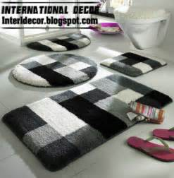 amazing Red Bathroom Rug Set #1: black-white-bathroom-rug-sets.jpg