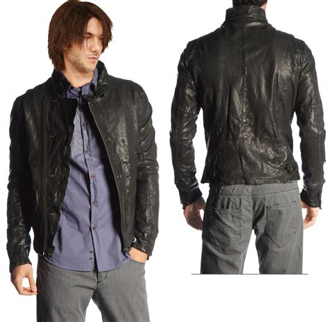 rugged leather jackets rugged front zippered leather jacket