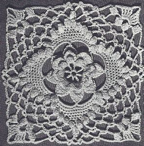 vintage crochet pattern   irish rose bedspread motif